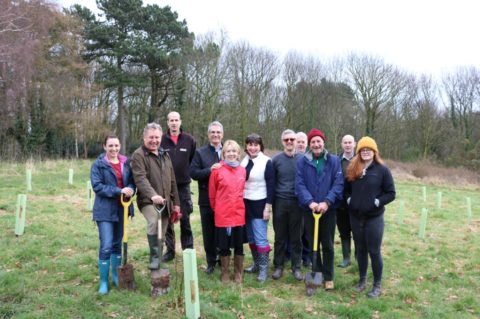 George Square Financial Management tree planting for Age UK Notts