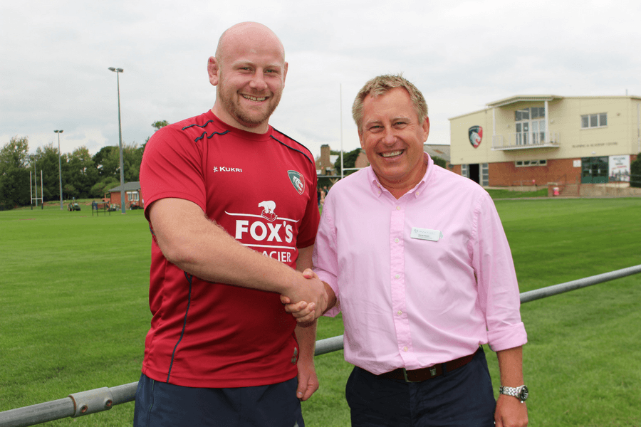 Dan Cole, Leicester Tigers and George Goward, George Square Financial Management